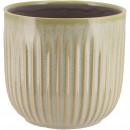 Keramik Kübel Susi, D13,5cm, H13cm, für TO12, hell